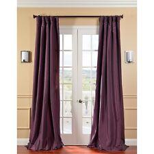 """Faux Silk Curtain Panel - Lined - Deep Purple - 50""""W x 120""""L"""