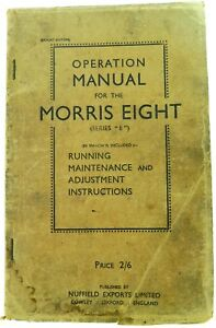 VINTAGE-MORRIS-EIGHT-034-SERIES-E-OPERATION-MANUAL