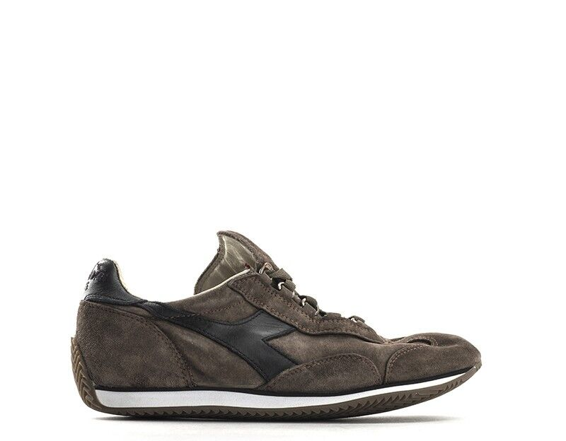 shoes DIADORA HERITAGE women SNEAKERS TRENDY  brown black Pelle naturale,Scamo