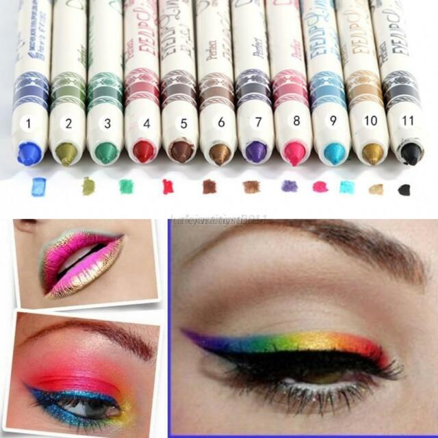 New Sexy Waterproof Eyeliner Lipliner Pen Eyebrow Eye Shadow Pencil Assorted J80