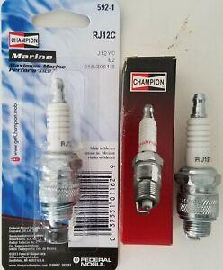 Champion Spark Plug RJ12C #592 #592M #592s Replaces RJ12YC J12 J12J J12JM KJ12 Q