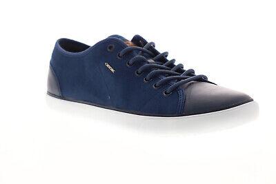 Geox U Smart U72X2C0ZB85C4072 Mens Blue Canvas Lace Up Low Top Sneakers Shoes   eBay