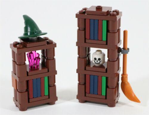 NEW LEGO HARRY POTTER CUSTOM HOGWARTS BOOKCASE SET MADE OF LEGO PARTS