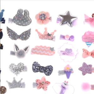 5Pcs/Set Hairpin Baby Girl Cute Hair Clip Bow Flower Mini Barrettes Star Kids