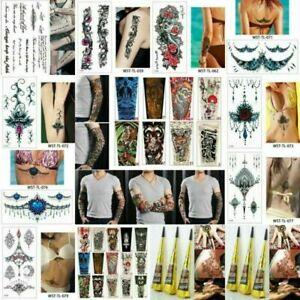 Punk-Natural-Herbal-Henna-Cones-Temporary-Tattoo-Kit-Body-Art-Paint-Mehandi-Ink