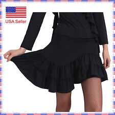 SGS30bk New Black Ballroom Smooth Latin Tango Salsa Swing Dance Dress Skirt