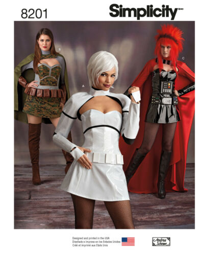 New Simplicity Sewing Pattern Cosplay Halloween Costume Misses Size You Pick