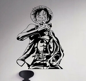 Details About Monkey D Luffy Wall Decal Straw Hat Vinyl Sticker Anime Home Art Decor 41 Nse