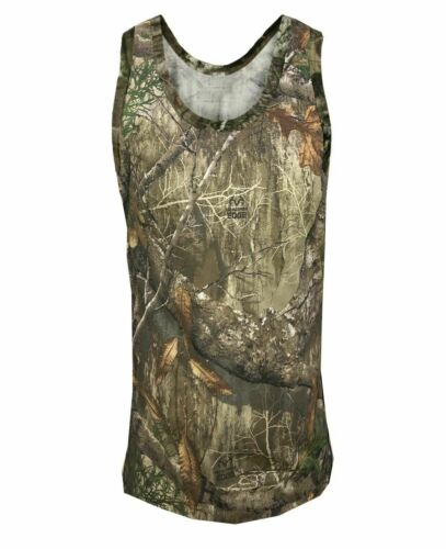 Men/'s Jungle Camouflage T-shirt Realtree Camo Print Long//Short Sleeveless Top