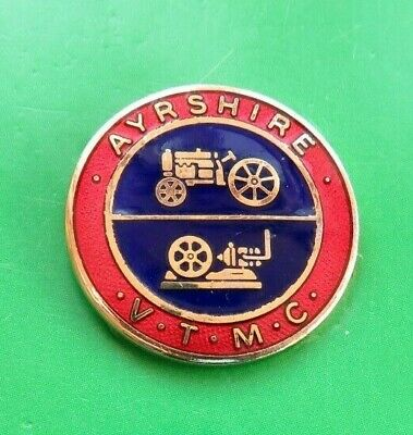 Ayreshire Vintage Tractor & Machinery Club  Lapel Badge  Used Large Assortment Other