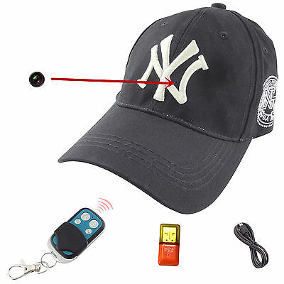 1080P Spy HD Hidden Camera Hat Covert Video Recorder Wireless Remote Control Cam