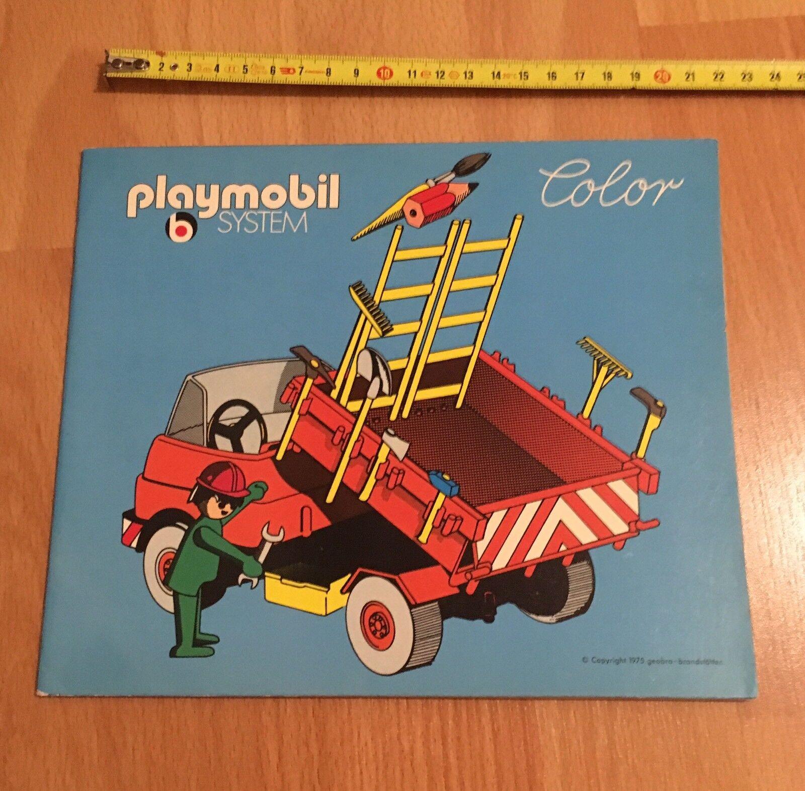 N•5   RARE LIVRE Book PLAYMOBIL System  Couleur 1975 TRAVAUX WORK WORKER'S  Dans votre attente