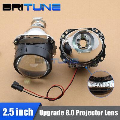 2.5/'/' Upgrade 8.0 Mini HID Bi-xenon Projector Lens H1 H4 H7 Headlight Retrofit