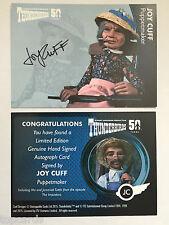 THUNDERBIRDS 50 YEARS Autograph Card Joy Cuff - Puppet Creator and Maker