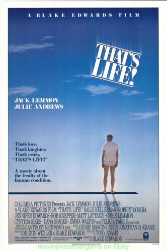 THAT/'S LIFE MOVIE POSTER 27x41 Original Rolled  1986 JACK LEMMON BLAKE EDWARDS