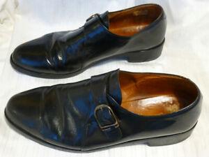 Chaussures noires tout cuir vintage CLERGET France P 44 (10) b.e