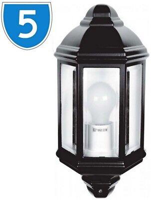5x Montato A Parete Led Luce Esterno Lampada In Alluminio Mezza Lanterna Illuminazione Da Giardino-