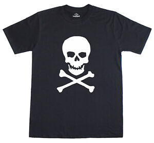 Skull-amp-Crossbones-Pirate-Fancy-Dress-Mens-T-Shirt-Free-Post-U-K