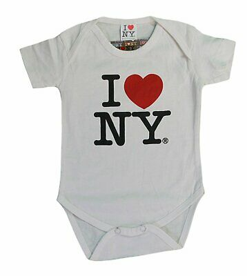 I Love NY New York Baby Infant Screen Printed Heart Bodysuit Hot Pink Girls NYC