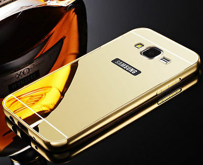 New Luxury Aluminum Metal Bumper Mirror Back Acrylic Hard Case Cover For Samsung