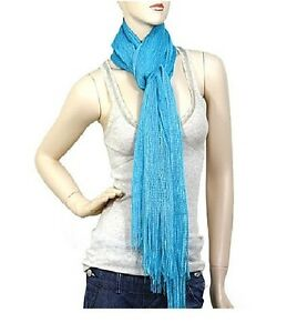 Turquoise-Shimmer-FASHION-Scarf