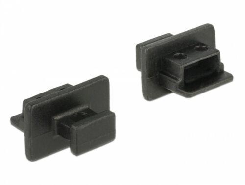 10 stück Staubschutz Schutz für USB 2.0 mini-B Buchse mit Griff schwarz