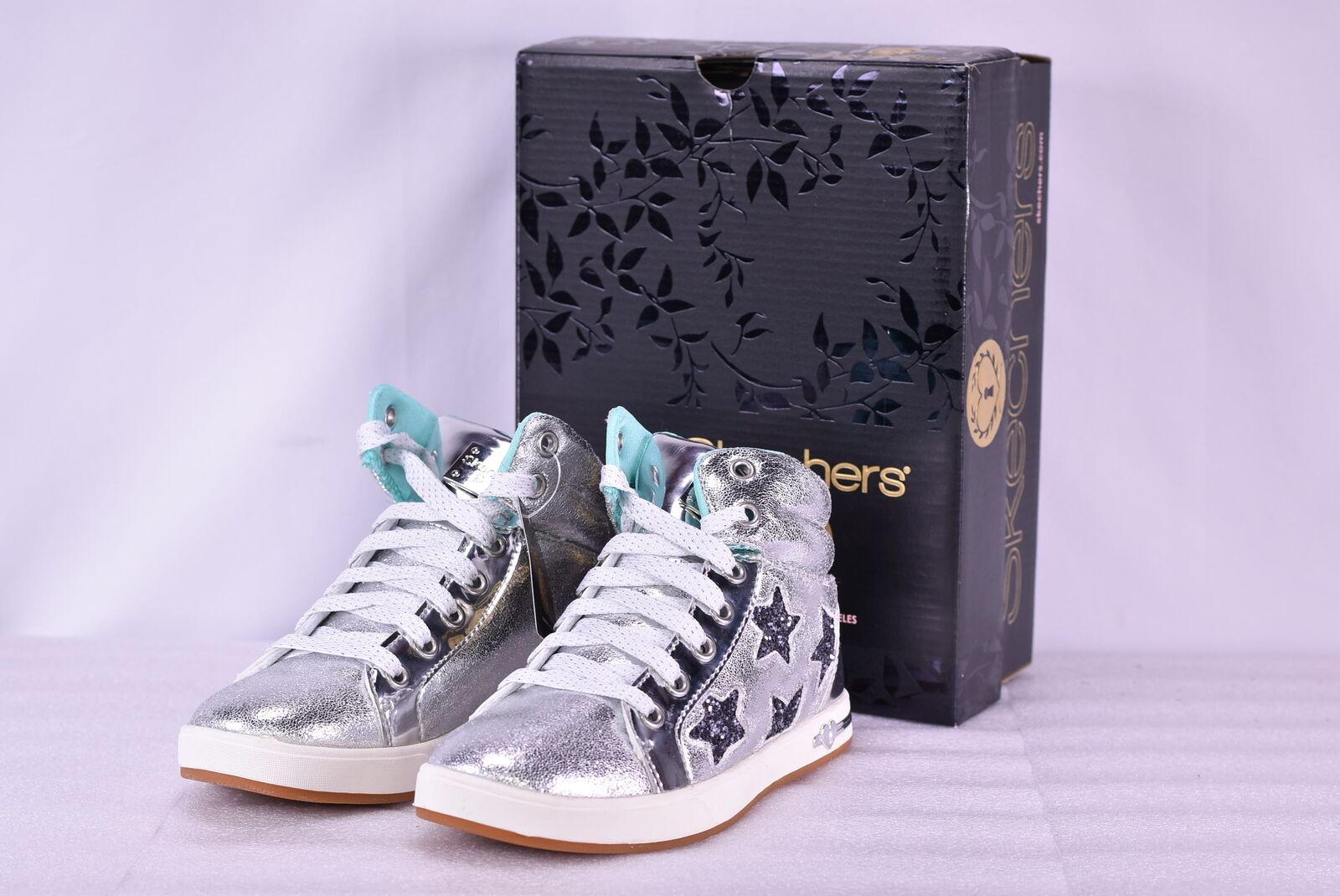 2c8075bf78da9 Girl Youth Skechers Shoutouts Starry Shine Hi Top Shoes 84320l/sil 2