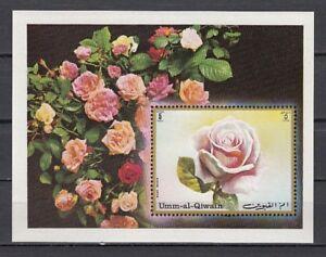 Rose S / Blatt Mi Cat Bl56 A 681 Umm Al Qiwain