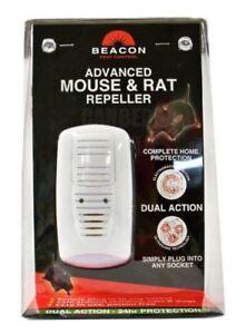 Rentokil-Beacon-Advanced-Mouse-amp-Rat-Rodent-Repeller-Dual-Action-UK-Plug-FM089