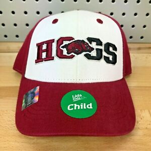 "Arkansas Razorbacks ""Hogs"" NCAA College TOW Hat Child Size Lids Hat NWT Cap READ"