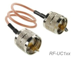 UHF-PL259-Male-to-UHF-PL259-Male-50-Ohm-RG316-Coax-Low-Loss-RF-Cable