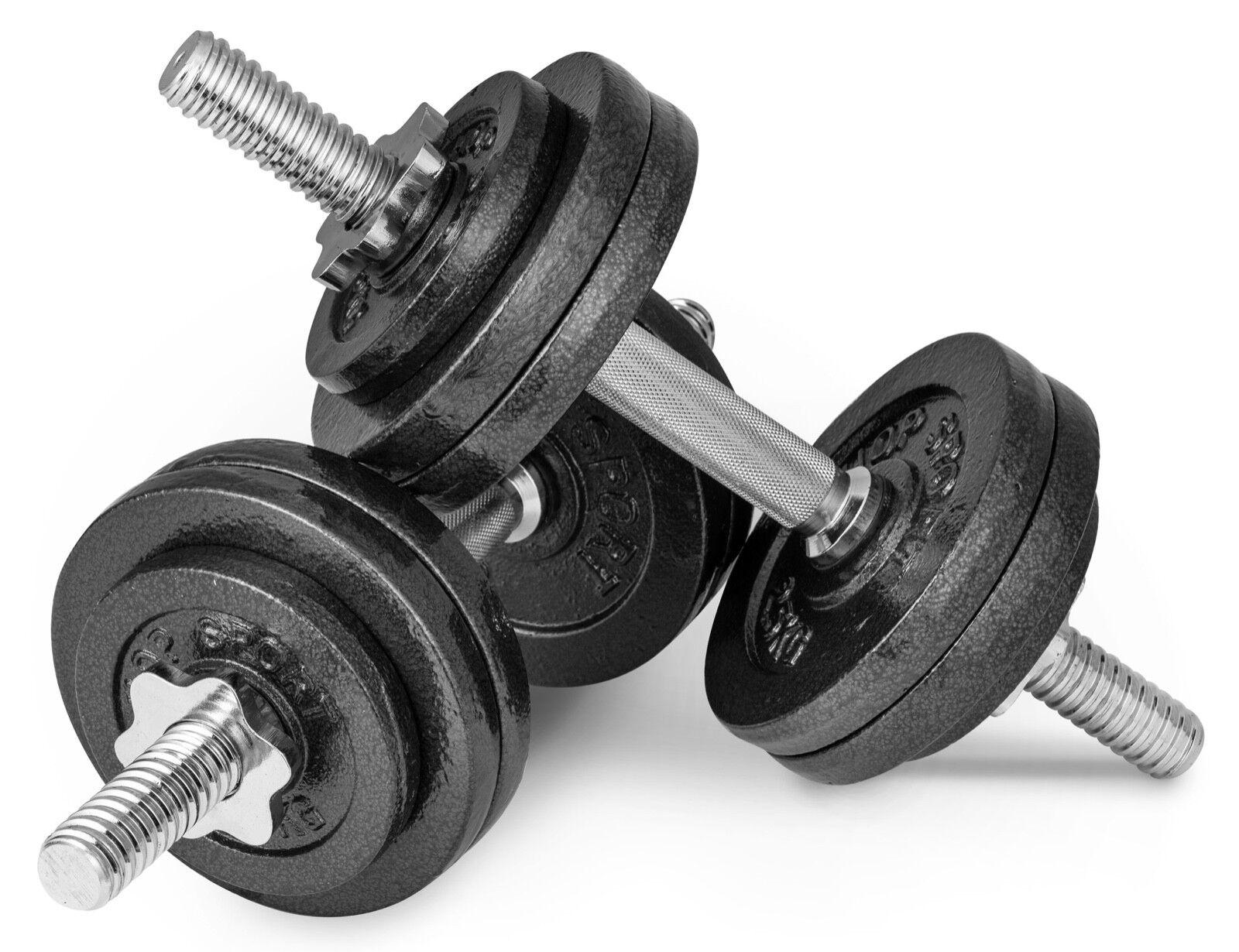 30kg (2x15) Gusseisen Kurzhanteln Hantel Set Hanteln Gewichte Gewichte Hanteln Hantelscheiben 448566