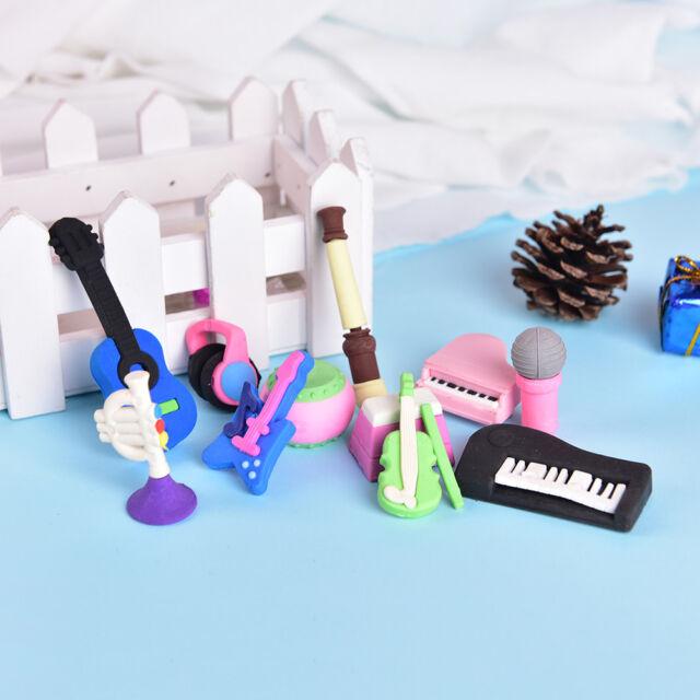 Musical Instrument Rubber Eraser Student Stationery for Gift school supply vK