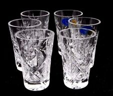 Set of 6 Russian Cut Crystal Shot Glasses 1.2 oz - Soviet / USSR Vodka Glassware