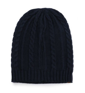 577ad185a Details about NWT Timberland Women's Girls Cable Slouchy Beanie Hat A1EGJ  Navy Dress Blues NEW
