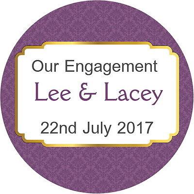 Leale Personalised Gloss Qualità Prugna Wedding Engagement Anniversario Sigilli Adesivi- Fissare I Prezzi In Base Alla Qualità Dei Prodotti