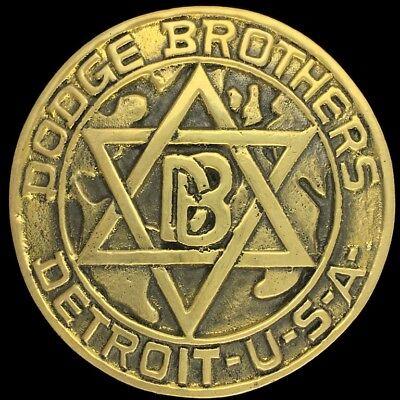 Bello Vintage Raro Dodge Brothers Detroit Usa 1914 Logo Stemma Ottone Anni 70