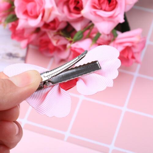 10 Pcs cute kids girls toddler baby 3D butterfly hair clip grosgrain hairpin HC
