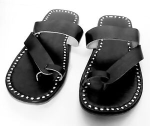 d692e2704f10 new 2018 handmade mens slipper mens sandals leather slippers black ...