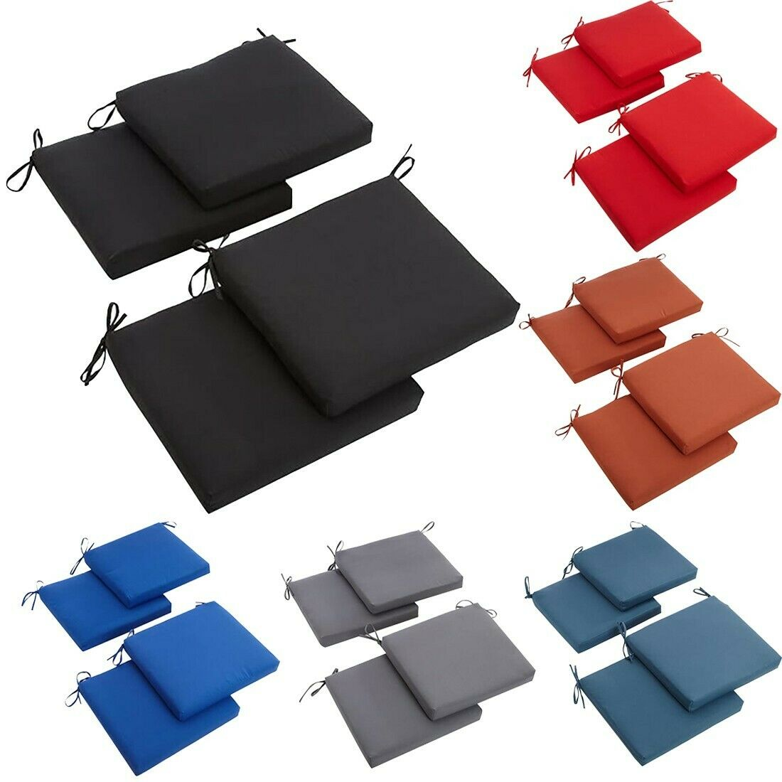 indoor or outdoor square chair zippered seat