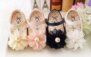 NOUVEAU-bebe-filles-bapteme-chaussures-en-blanc-rose-bleu-creme-6-9-12-15-18