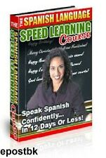Learn Spanish Speed Spanish language Course Speak Spanish in 12 days or Less DVD