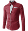 Fashion-Mens-Casual-Shirts-Business-Dress-T-shirt-Long-Sleeve-Slim-Fit-Tops thumbnail 4