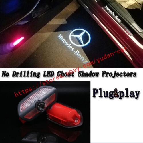 New 2x HD Logo LED Door Lights Laser Projector for Mercedes Benz S-Class 2014-18