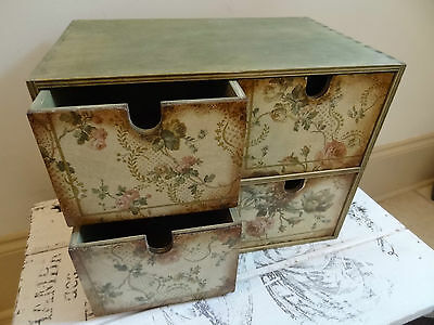 Mini Chest of drawers,  French shabby chic design, 4 drawers