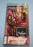 Led Zeppelin Jimmy Page W/ Guitar 7 Inch Action Figure Toy In Box Rare