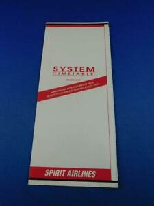 SPIRIT-AIRLINES-SYSTEM-TIMETABLE-JUNE-1999-NON-STOP-DETROIT-LOS-ANGELES