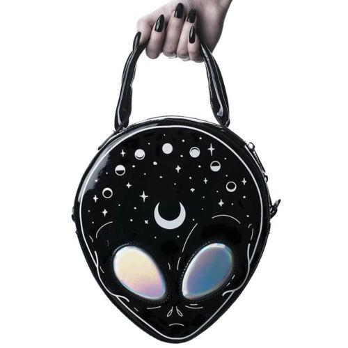 E.T Alien Killstar Gothic Goth Okkult Lackleder Schultertasche Handtasche