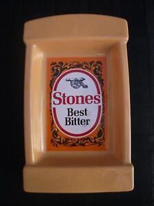 "Stones Bitter Ceramic Ashtray-Made in England Wade-80's 8.5""x5.5"" unused 5j2JUhuL-09163250-488802750"