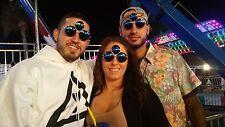 THIRD EYE SUNGLASSES TRIPPY for MEN WOMEN Rave Festival Party Garnet EDM Eyewear
